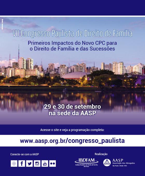 VII CONGRESSO DE DIREITO DE FAMÍLIA E SUCESSÕES